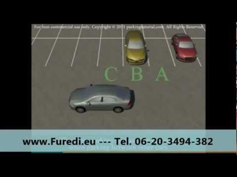 Merőleges parkolás hátramenetben (Füredi) - YouTube