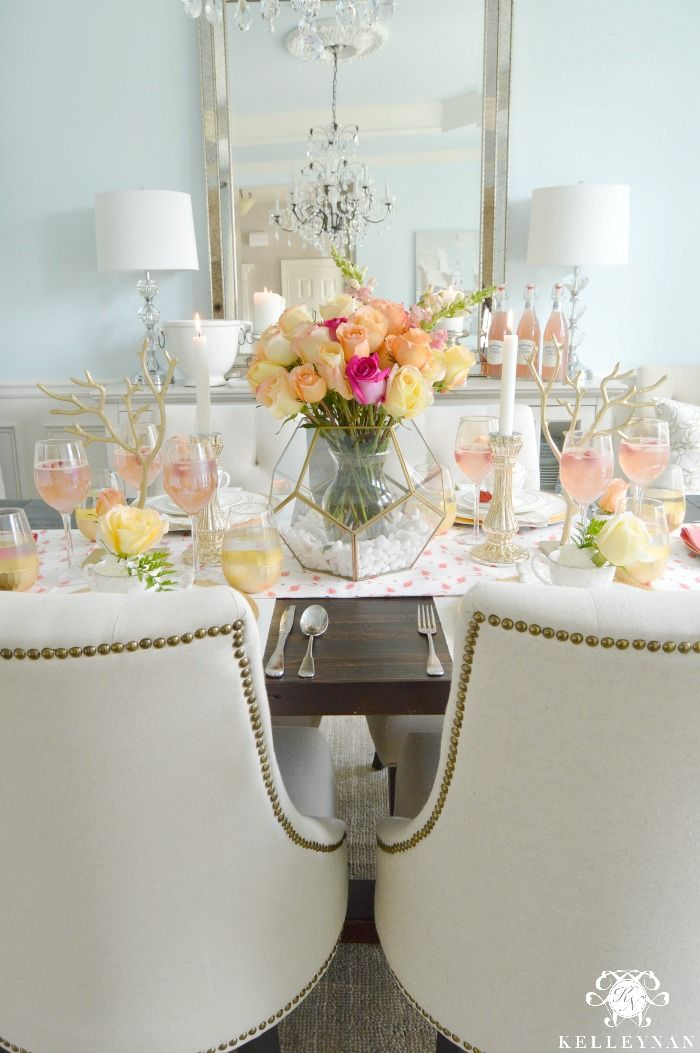 Girl Party Table Ideas with Pink Lemonade