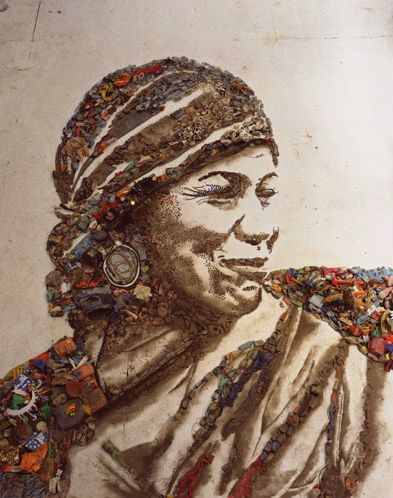 just watched Wasteland last night. i'm so inspired.  Vik Muniz's Pictures of Garbage