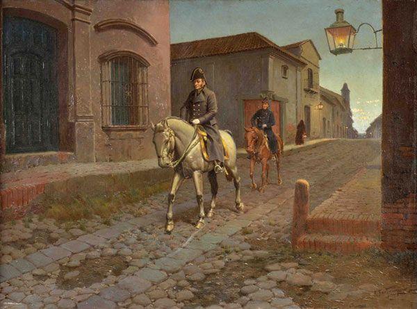 """Francisco Fortuny, """"San Martín regresa a Buenos Aires - mayo de 1817"""""""
