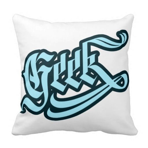 Geek Pillow #geek #lettering #LetterHype