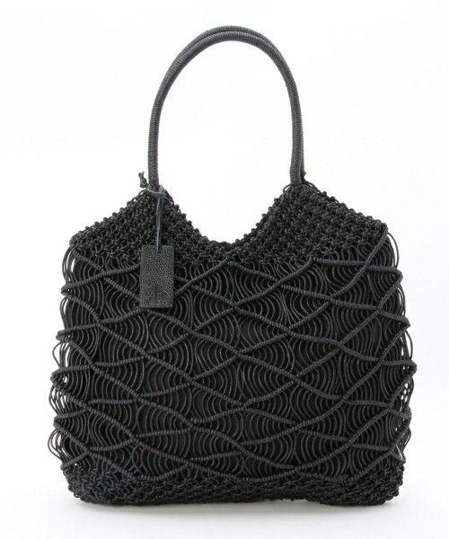 「Trenta Sei マクラメ編みトートバッグ」