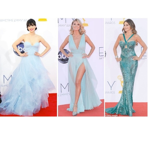 True Blue style at Emmys 2012 from Zooey Deschanel in Reem Acra prom dress, Heidi Klum in Alexandre Vauthier and Sofia Vergara in Zuhair Murad! Read all about it > www.kindredsole.com/blog/Emmys-2012-fashion #zooeydeschanel #reemacra #heidiklum #alexandrevauthier #sofiavergara #zuhairmurad #newgirl #modernfamily #emmys #emmys2012 #la #redcarpet
