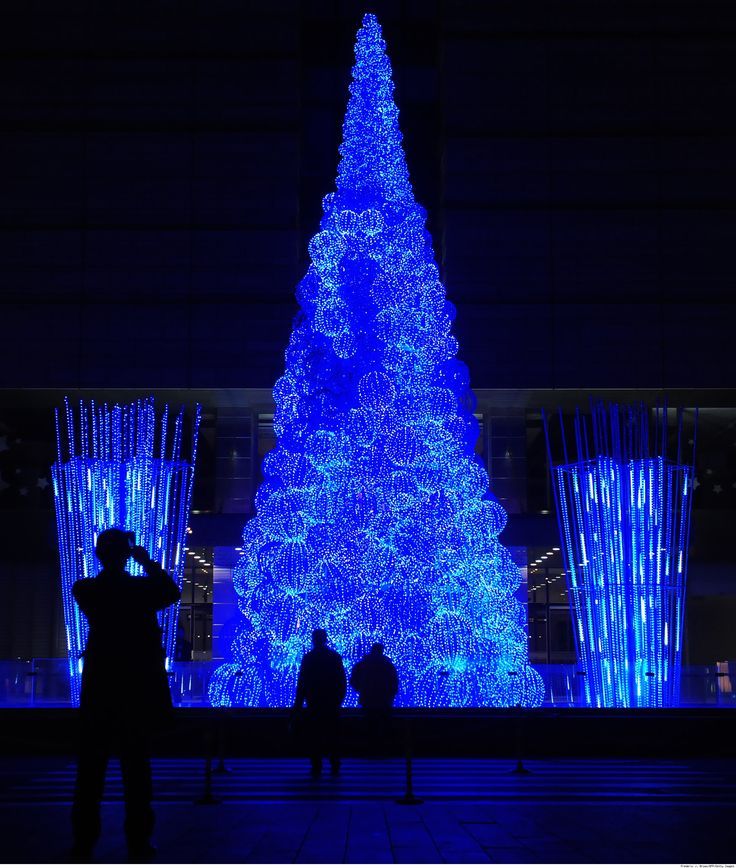 Christmas Trees Fibre Optic Part - 42: Beijingu0027s Fiber Optic Christmas Tree As Seen At Http://www.luxist.