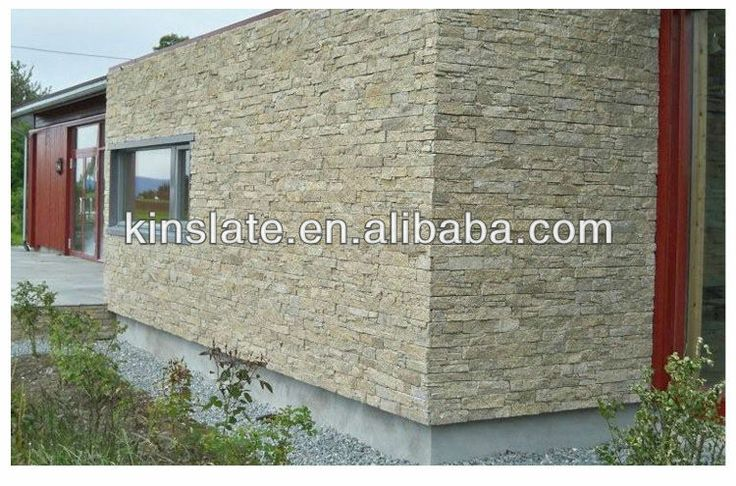 Kinslate beige natural stone exterior wall cladding tiles - Outdoor wall cladding tiles ...