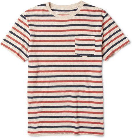 J.Crew Porter Striped Cotton-Jersey T-Shirt | MR PORTER