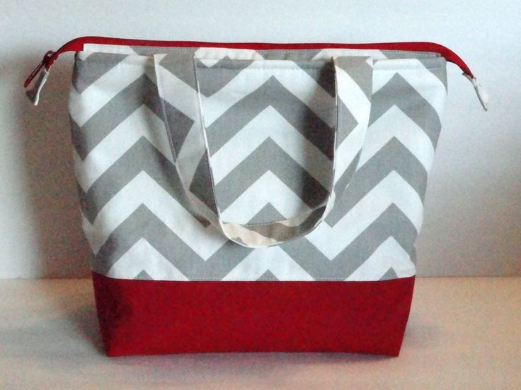 Lunch Bag, Insulated Chevron Print, Womens Lunch Bag, Girls Lunch Bag,  Zipper Top, Made to Order, Choose Your Colors - pinned by pin4etsy.com