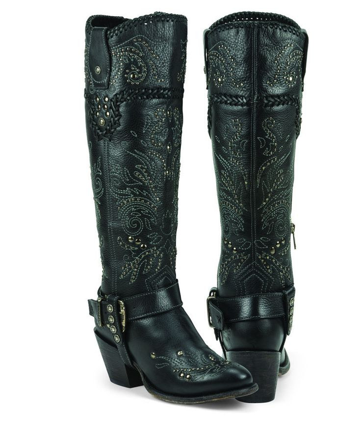 Made from softest and highest quality genuine leather, these boots give you an upscale modern fashion look with a hint of western influence and flair. Sophisticatedly designed with a solid black leath