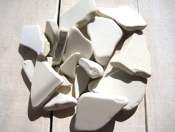 Sea Pottery // 17 pcs Ceramic Thick // Beach by CreteDriftwood