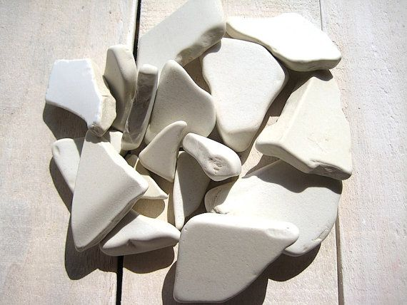 Sea Pottery // 17 pcs Ceramic Thick // Beach by CreteDriftwood