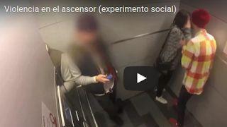Crea y aprende con Laura: Violencia en el ascensor (experimento social) #Aco...