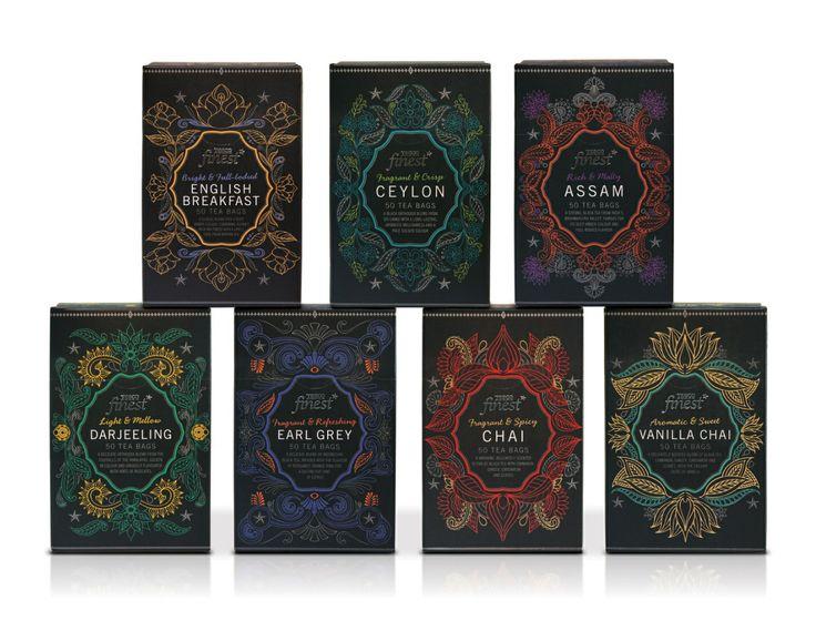 Tesco finest tea packaging p&w