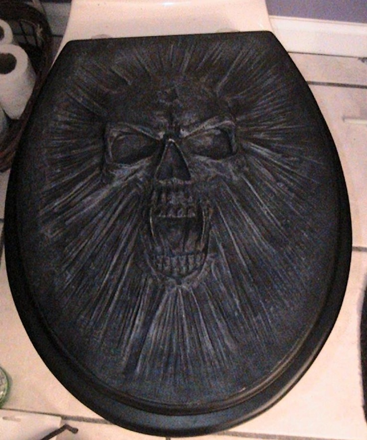 barbed wire toilet seat. Screaming Skull Toilet Seat Cover 19 best ish images on Pinterest  Car seat covers seats