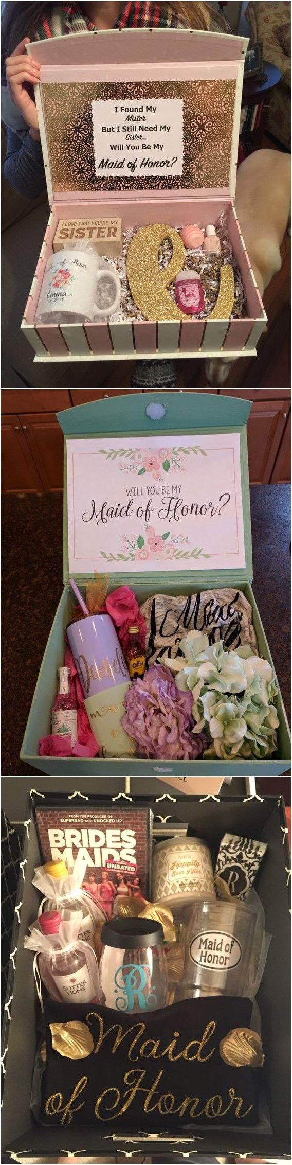 20+ Maid of Honor Proposal Ideas! She loved it and said YES! #weddingfavors