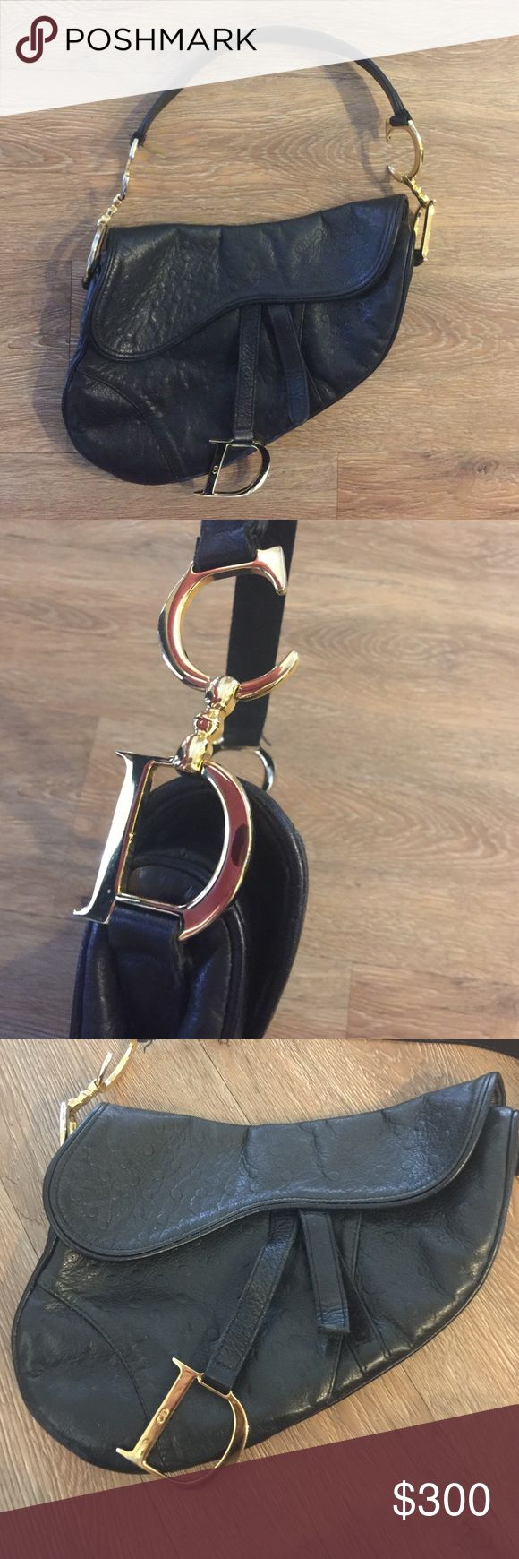 Christian Dior Saddle Authentic Christian Dior leather evening bag with gold hardware.In good condition. Logo on the inside visible but wearing off. No scratches. Christian Dior Bags Shoulder Bags