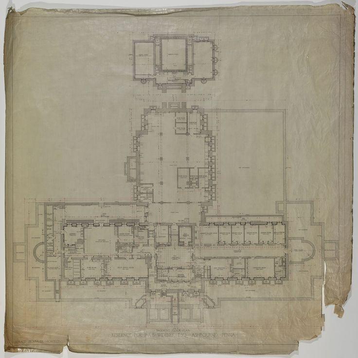 Lynnewood Hall Basement Floor Plan