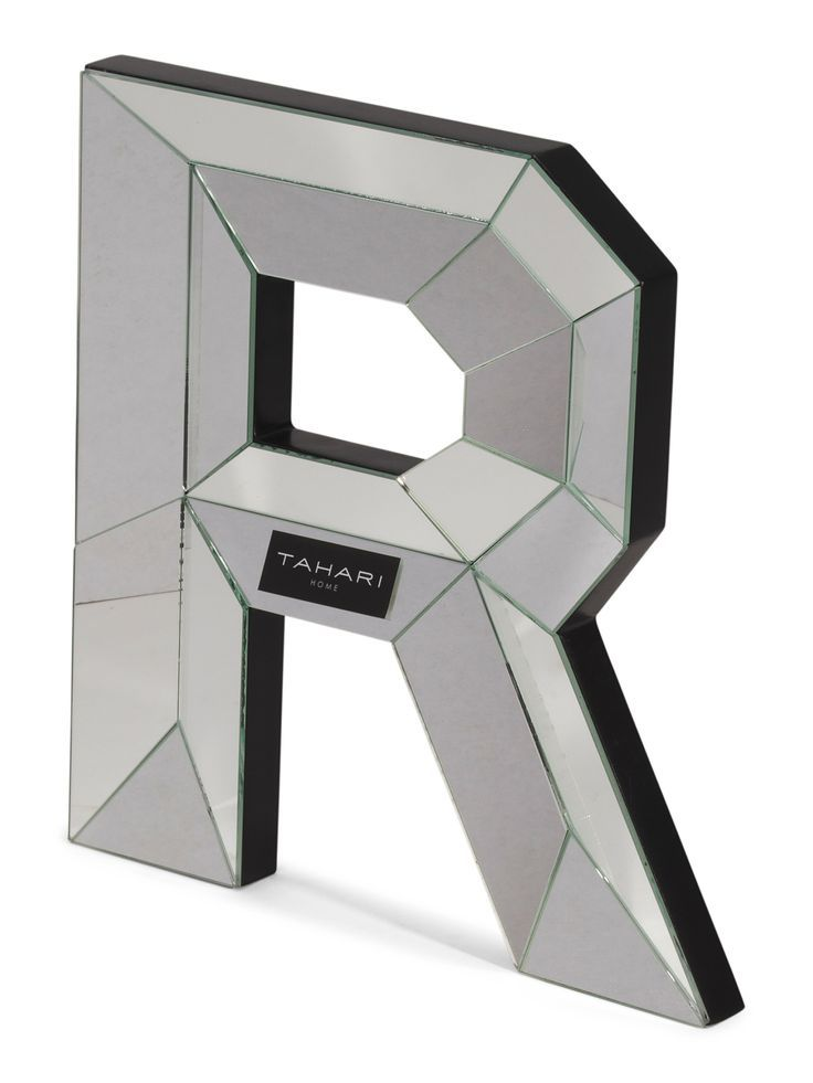 Mirror Letter R Decor