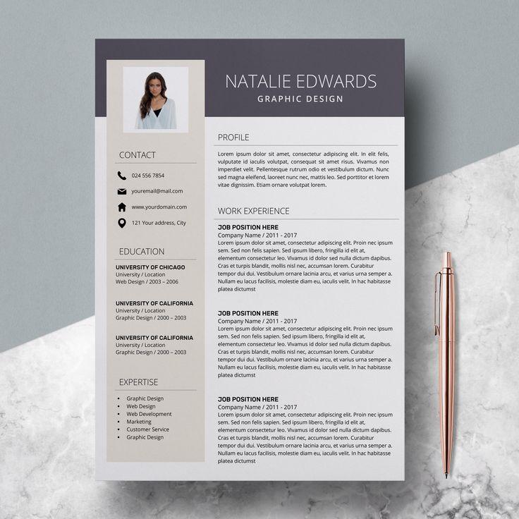 Photo Resume Template Unique Resume Templates Instant