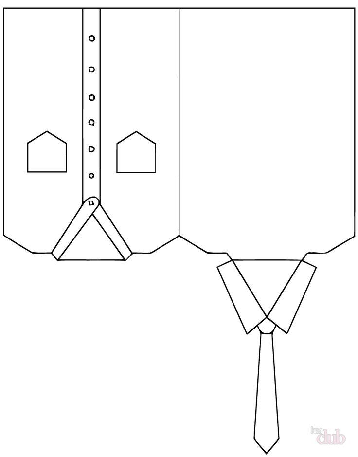 Открытки в виде рубашки с галстуком своими руками