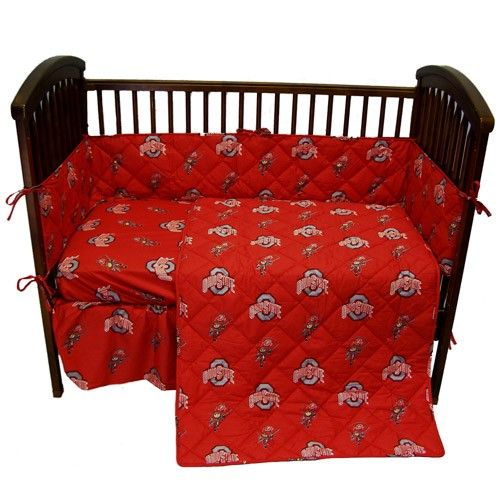 College Covers Baby Ohio State University Buckeyes Crib Set by College Covers Baby Bedding : The Home Decorating Company