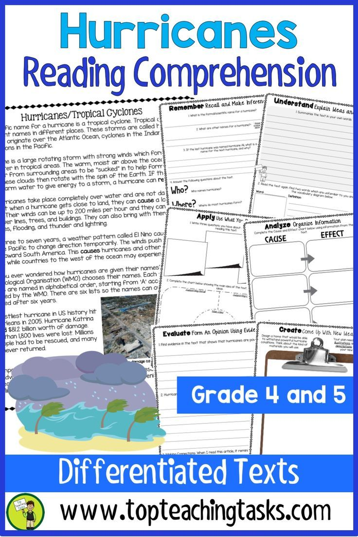 Hurricanes Reading Comprehension Passages And Questions Your Upper Primary Students Reading Comprehension Passages Reading Comprehension Comprehension Passage