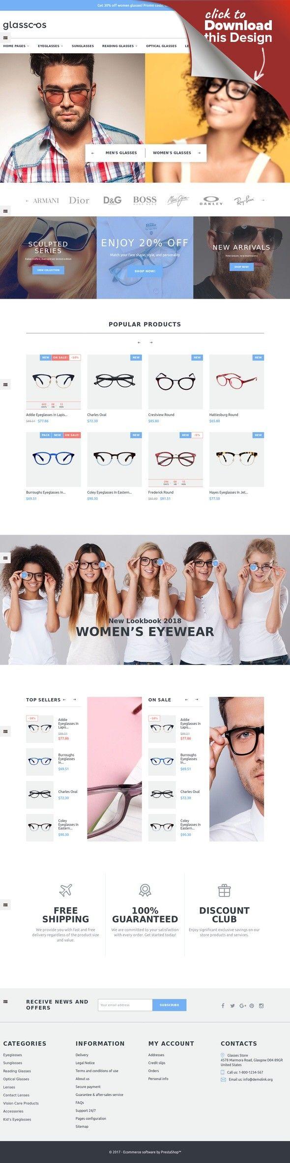 Tema PrestaShop Responsive #64764 per Un Sito di Occhiali da Vista Modelli E-commerce, Temi Prestashop, Template Moda e Bellezza, Template Moda   Tema PrestaShop per Un Sito di Occhiali da Vista. Funzionalità aggiuntive, documentazione dettagliata e immagini stock incluse.