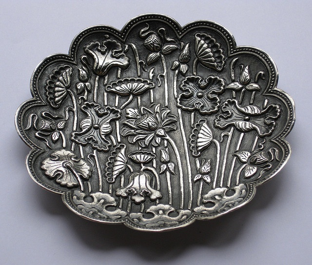 Yogya silver saucer