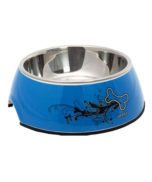 ROGZ BUBBLE BOWL 2-IN-1 TURQUOISE CHROME. Available from www.nuzzle.co.za