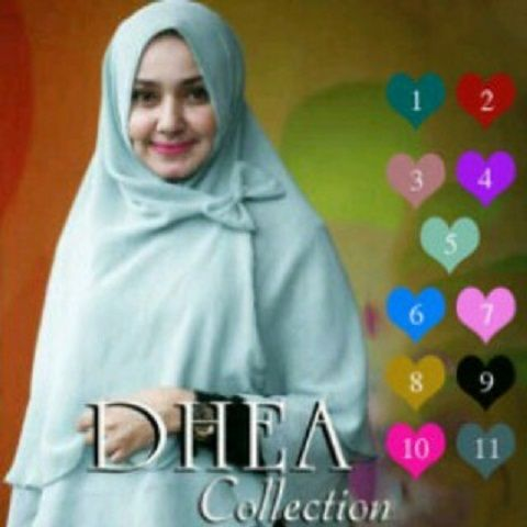 Hijab/Jilbab Syar'i Khimar Dhea Pita  Jilbab syar'i dengan aksesori bros pita terpisah (free bros pita). Panjang sesuai photo atau panjang belakang 80 CM , panjang Depan 60 CM (Dalam keadaan terpakai).  Bahan: Double Sifon Ceruti