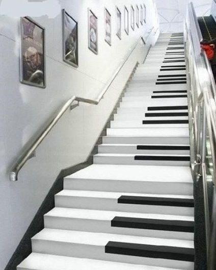Afbeelding muziekkunst : pianotrap