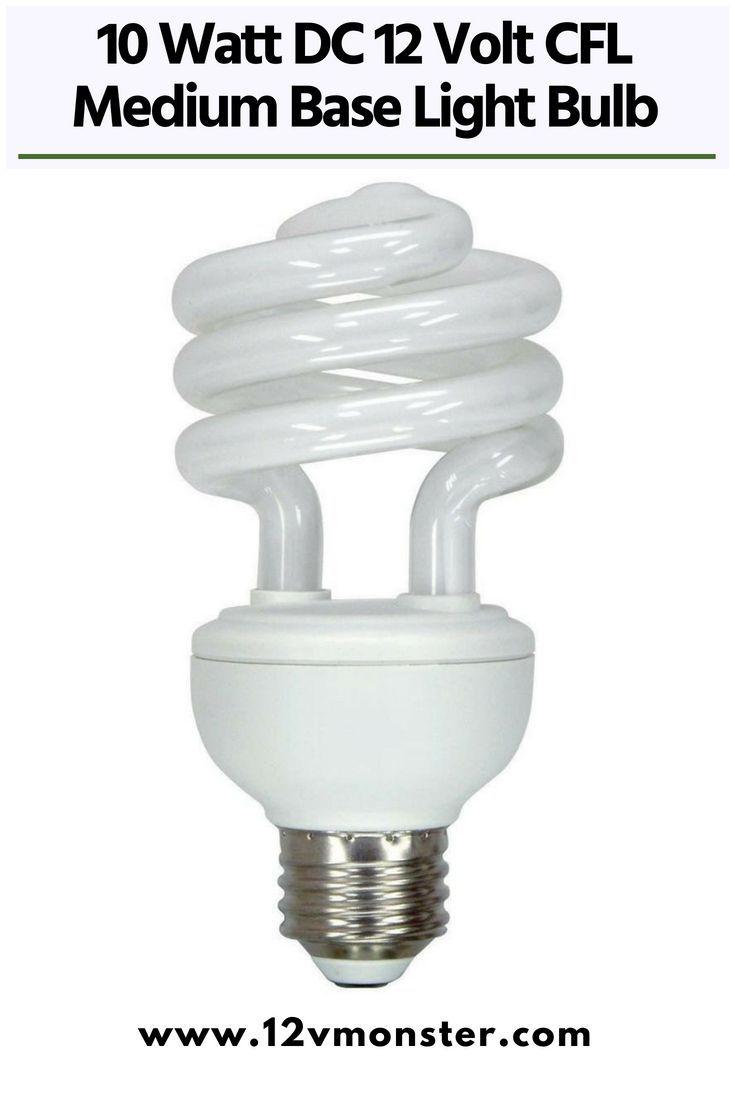 10 Watt Dc 12 Volt Cfl Medium Base Light Bulb Cool And Warm White Compact Fluorescent Lamp Candelabro Spirali Mini