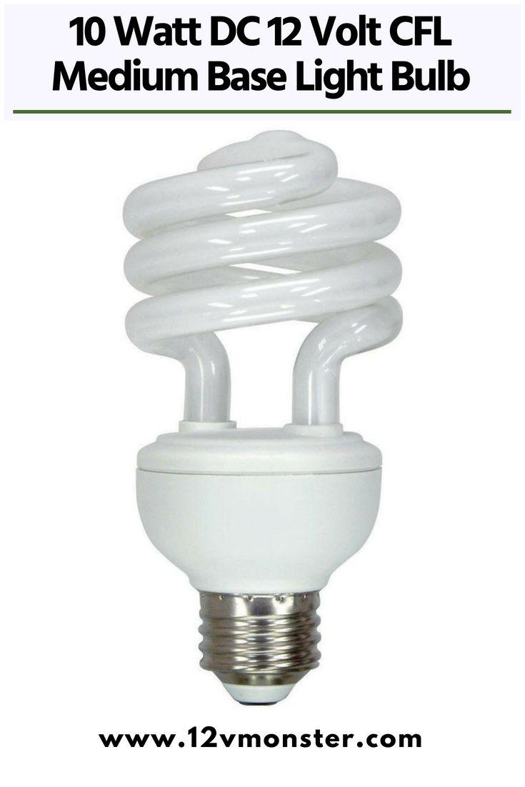 10 Watt Dc 12 Volt Cfl Medium Base Light Bulb Cool And Warm White