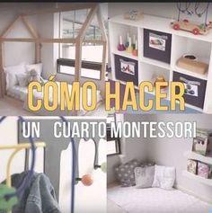 DIY Cuarto de niños estilo Montessori. Aprende a construir una cama y organizar el cuarto de tus niños al estilo Montessori.
