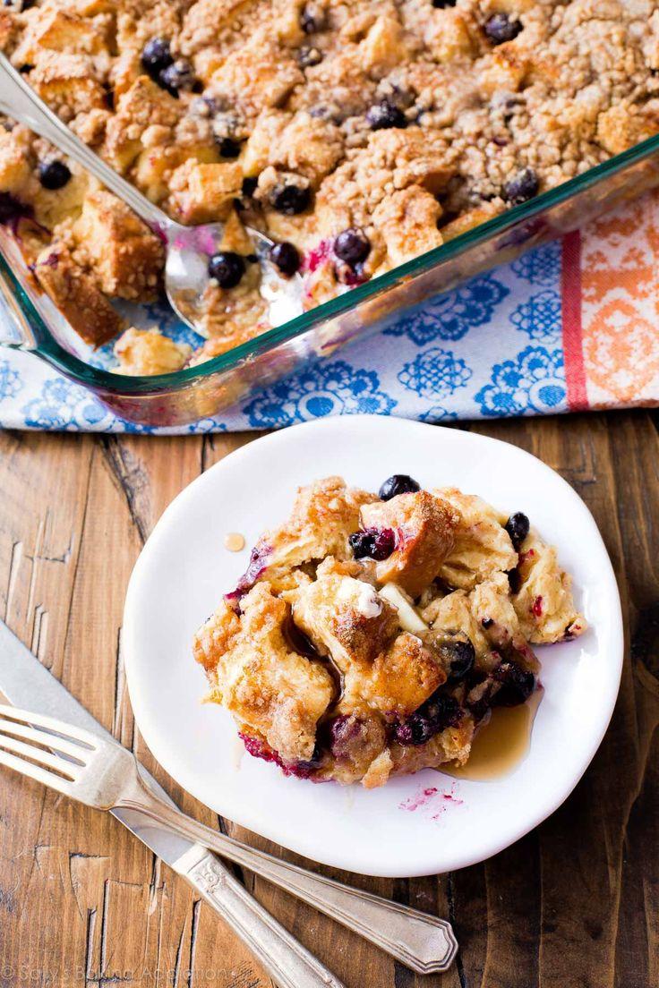 Blueberry French Toast Casserole     sallysbakingaddiction.com