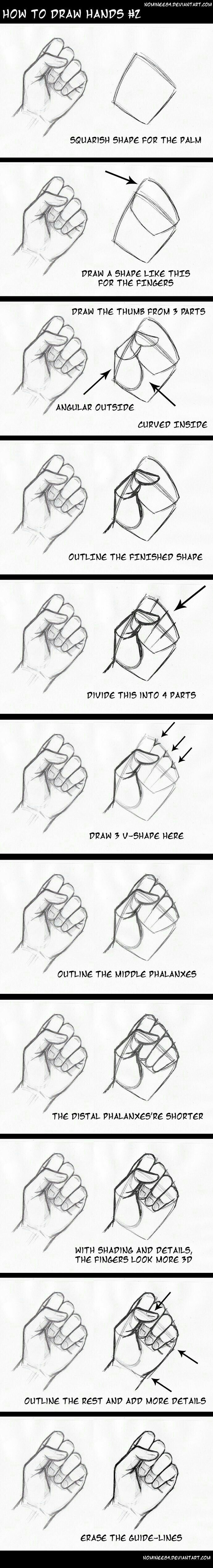 How to Draw Hands, text; How to Draw Manga/Anime