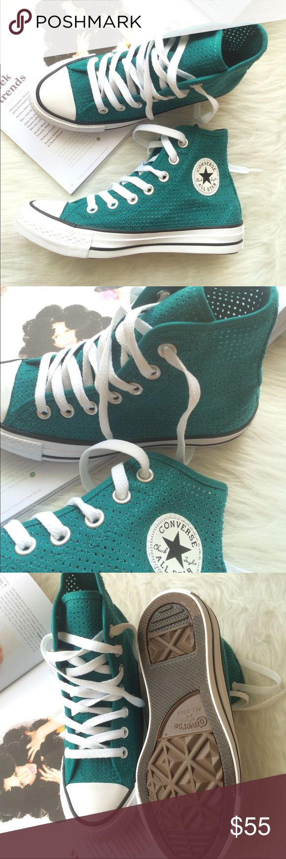 1 HOUR SALE! Converse all star Women's teal shoe Converse all star women's. Brand new without box. ✨Price is firm. Ships same day or very next. Runs true to size. Converse Shoes Sneakers