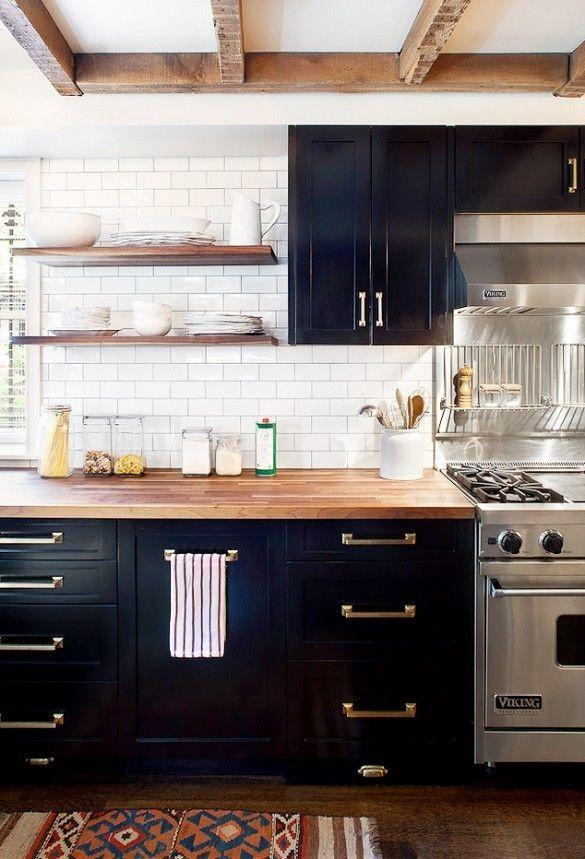 21 besten Black Kitchens Bilder auf Pinterest | Küchen design, Küche ...