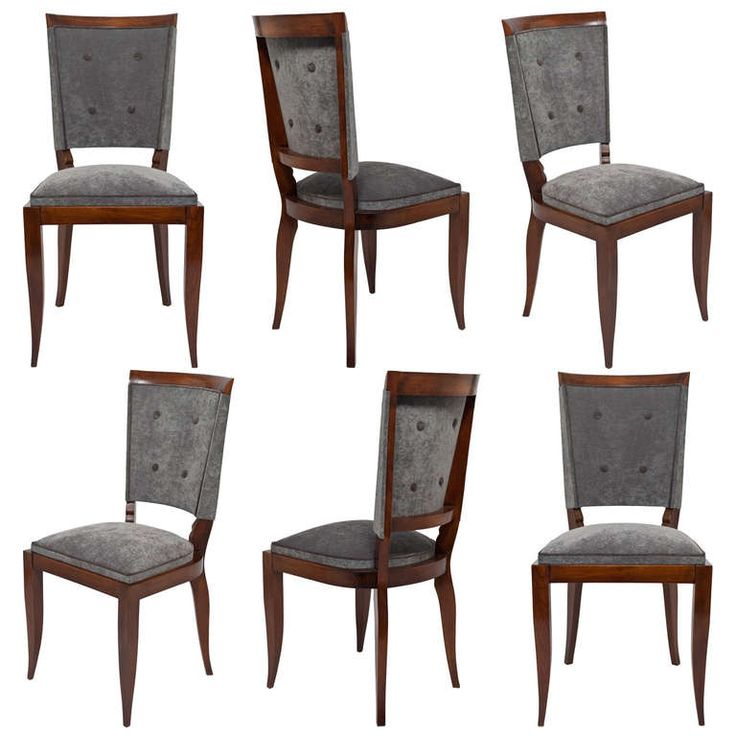 1stdibs.com | French Art Deco Set Of 6 Dining Chairs