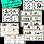 This file is for chevron word wall letters-there are 4 on an 8 1/2 x 11 page; chevron word wall DOLCH sight words-ALL 220 SIGHT WORDS INCLUDED; and...