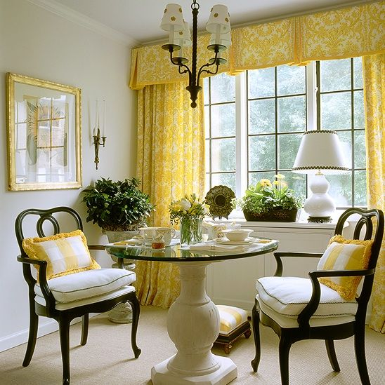 875 best images about drapes curtains on pinterest bay - Yellow dining room curtains ...