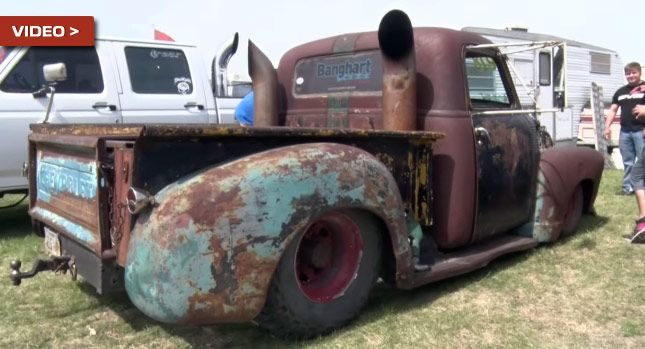 Custom Rat Rod Diesel Pickup Used for Towing and Drag Racing