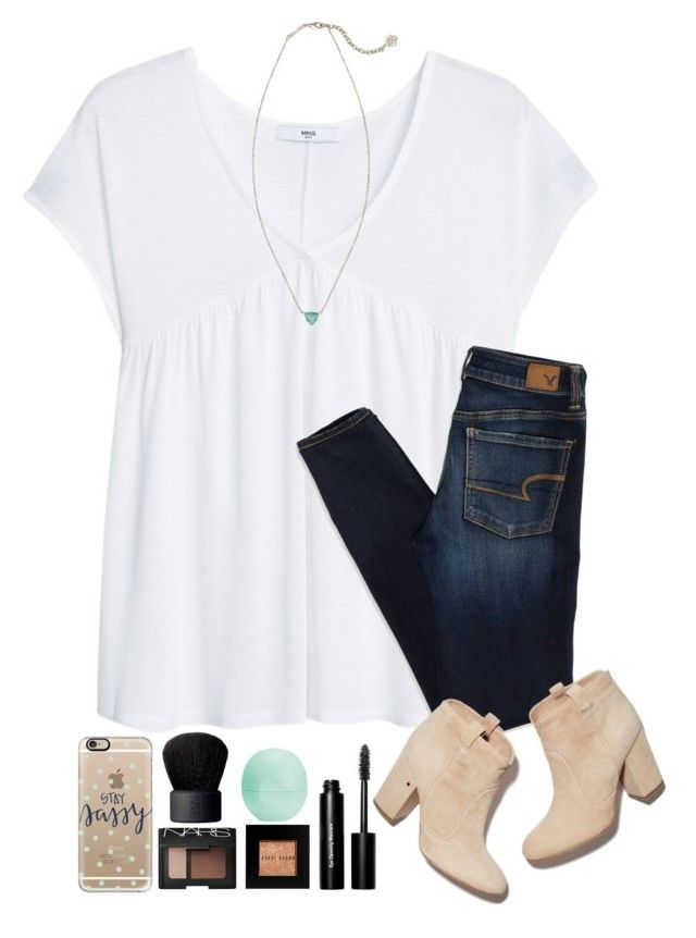 """""""~daydreamer~"""" by simply-natalee ❤ liked on Polyvore featuring MANGO, American Eagle Outfitters, Casetify, NARS Cosmetics, Eos, Kendra Scott, Bobbi Brown Cosmetics and Laurence Dacade"""