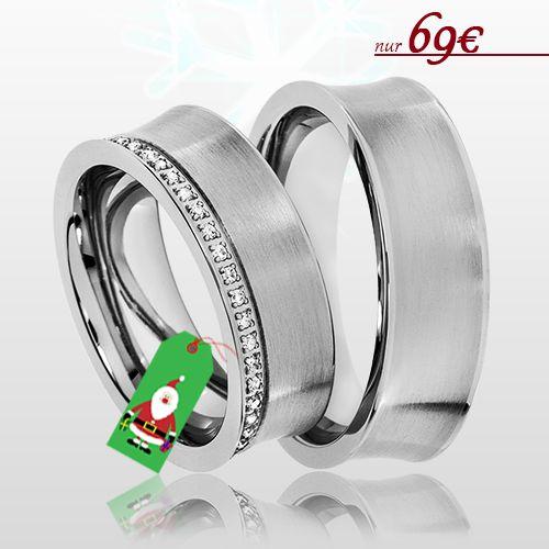 ⭐ Partnerringe als Weihnachtsgeschenk ⭐ 🔸 Überraschen Sie Ihre/n Liebste/n zu Heiligabend 🔸 Nur 69€ / Paarpreis 🔸 inkl. Versand 🔸 inkl. Gravur 🔸 inkl. Ring-Etui