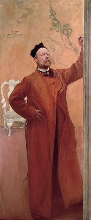 Self Portrait , Carl Larsson, 1900