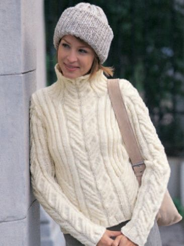 Free Knitting Patterns For Dogs Sweater : Urban Aran Pullover w Toque Yarn Free Knitting Patterns Crochet Pattern...