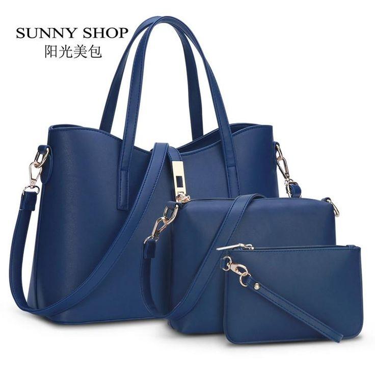 Fashion Brand Designer Women Handbags leather Fashion Shoulder Bags 3 bags/set