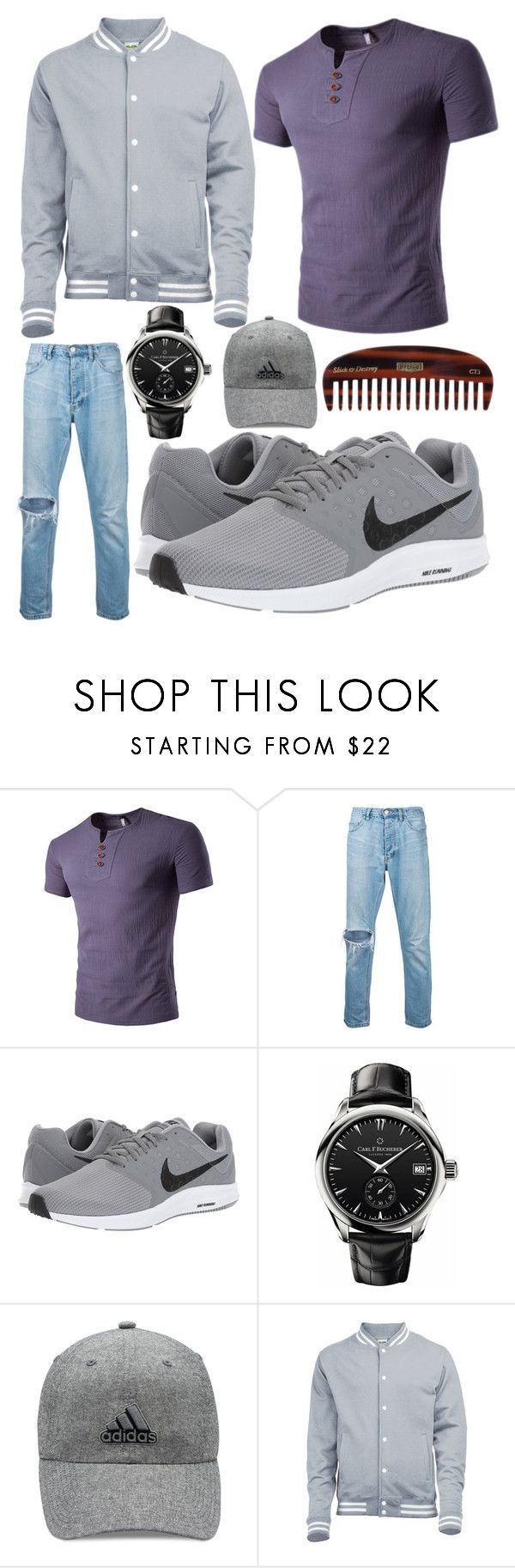 """""""derek"""" by hannah-graves ❤ liked on Polyvore featuring ExInfinitas, NIKE, Carl F. Bucherer, adidas, Uppercut, men's fashion and menswear"""