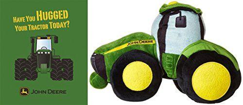 John Deere Tractor 50 X 60 Plush Throw Blanket and Plush Pillow Buddy Bundle