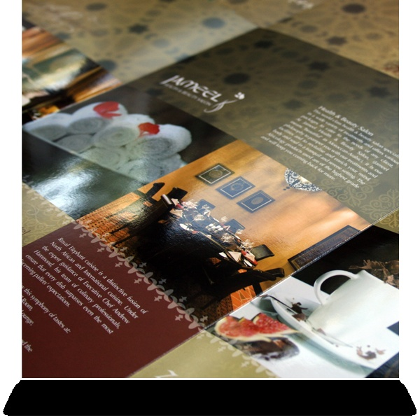 Royal Elephant Hotel & Conference Centre:   Brochure pack detail with folder and inserts.