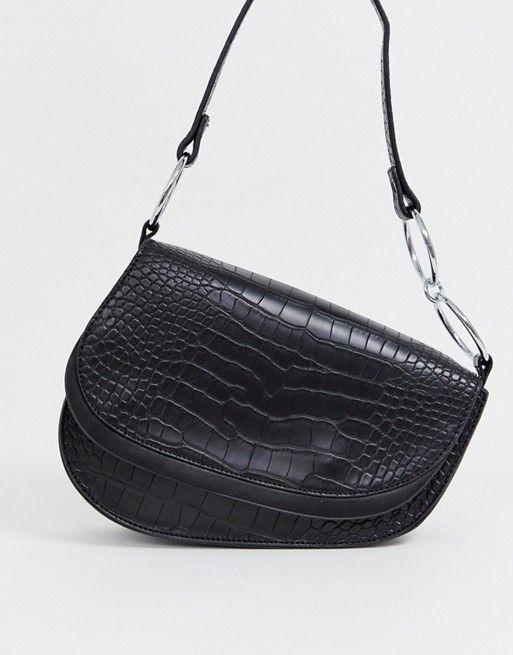 f3f633518b4 Skinnydip Ride black mock croc shoulder bag in 2019 | ASOS Wishlist | Bags, Shoulder  Bag, Crocs